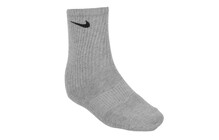 Nike Cotton Cushion Crew 3PPK grey heather/white